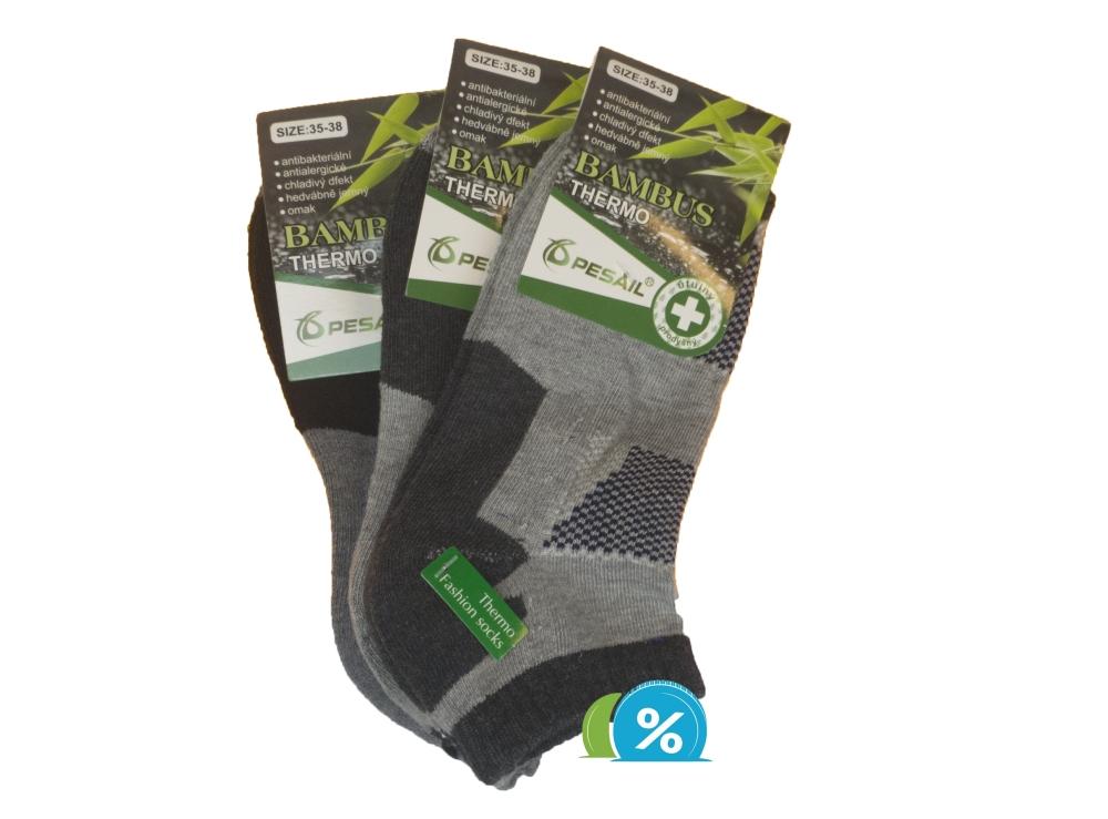 Dámské bambusové kotníkové termo ponožky Pesail BW4559 - 3 páry ... 3d133a115b